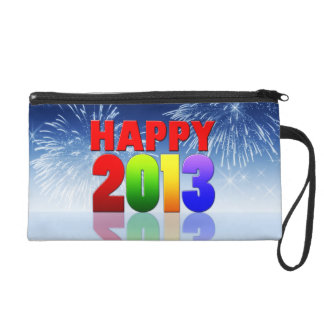 Happy New Year Design Wristlet Clutches