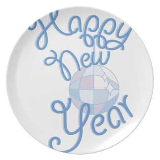 Happy New Year Dinner Plate