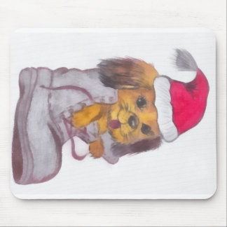 Happy New Year Dog Mouse Pads