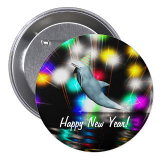 Happy New Year Dolphin Pins