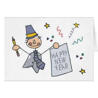 Happy New Year Doodle Card