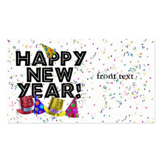 HAPPY NEW YEAR! Double-Sided STANDARD BUSINESS CARDS (Pack OF 100)