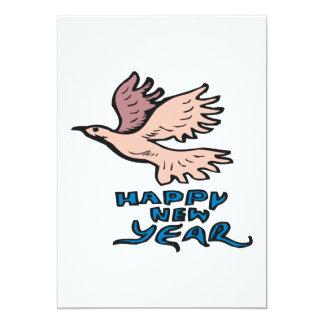 Happy New Year Dove Custom Invitation