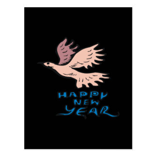 Happy New Year Dove Postcard