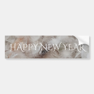 Happy New Year Down Comforter Feathers Photography Bumper Sticker