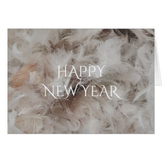 Happy New Year Down Comforter Feathers Photography Card
