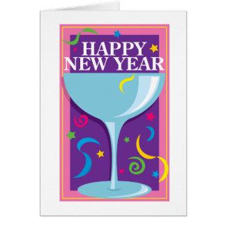 Happy New Year Drink Card