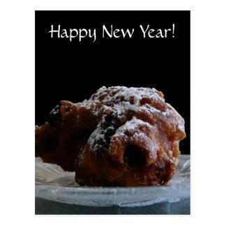 Happy New Year Dutch Ollie Bollen Treat Postcard