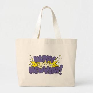 Happy New Year Explosion Jumbo Tote Bag