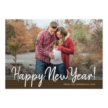 Professional Business Happy New Year Family Photo Greeting 2018 Holiday Card