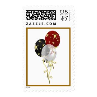 Happy New Year Festive Balloons Stamp (medium)