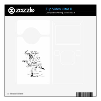 Happy New Year Figure Skater Flip Ultra II Decal