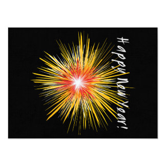 Happy New Year Firework Card