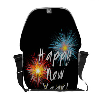 Happy New Year Firework Courier Bag
