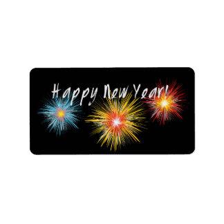 Happy New Year Firework Label
