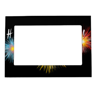 Happy New Year Firework Magnetic Picture Frame