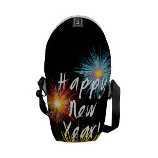 Happy New Year Firework Messenger Bag