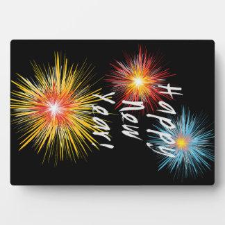 Happy New Year Firework Plaque