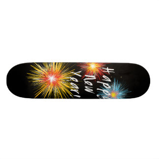 Happy New Year Firework Skateboard