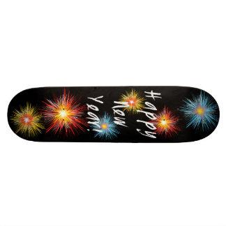 Happy New Year Firework Skateboard Deck