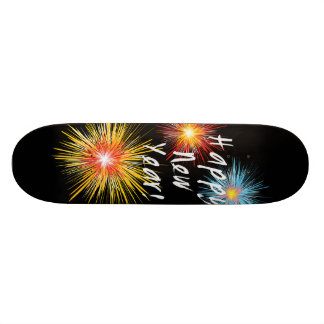 Happy New Year Firework Skateboard Deck