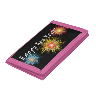 Happy New Year Firework Trifold Wallet