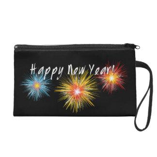 Happy New Year Firework Wristlet Purse