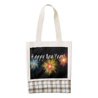 Happy New Year Firework Zazzle HEART Tote Bag