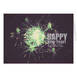 Happy New Year (fireworks) Card