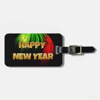 Happy New Year Fireworks Tags For Luggage