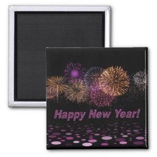 Happy new Year - fireworks Fridge Magnets