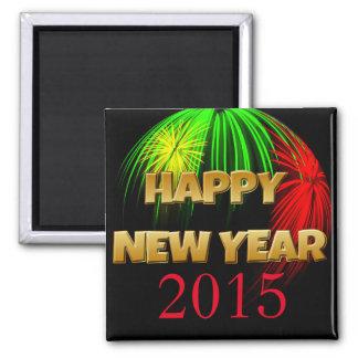 Happy New Year Fireworks Fridge Magnet
