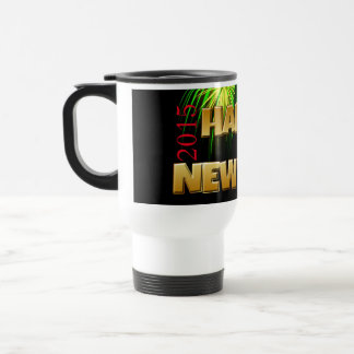 Happy New Year Fireworks Coffee Mugs