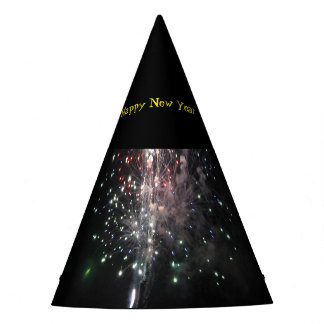 Happy New Year Fireworks Party Hat