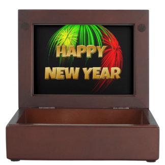 Happy New Year Fireworks Keepsake Box