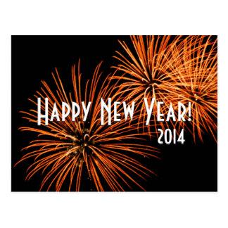 Happy New Year Fireworks Postcard