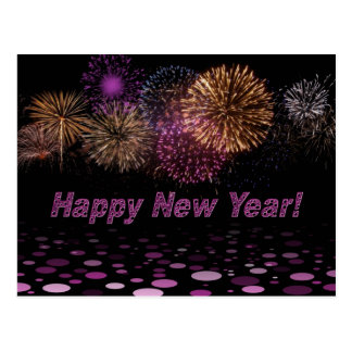 Happy new Year - fireworks Postcard