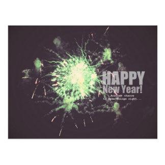 Happy New Year (fireworks) Postcard