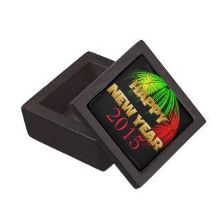 Happy New Year Fireworks Premium Trinket Box