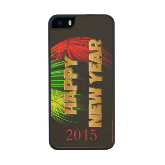 Happy New Year Fireworks Carved® Maple iPhone 5 Slim Case