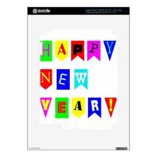 Happy New Year Flags iPad 3 Skin