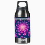 Happy New Year Fractal Insulated Water Bottle
