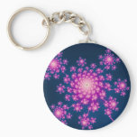 Happy New Year Fractal Keychain