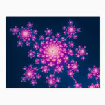 Happy New Year Fractal Postcard