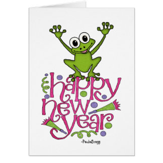Happy new year from Frisky the Frog Card