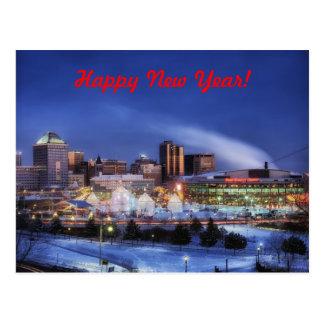 Happy New Year From Minnesota Postcard