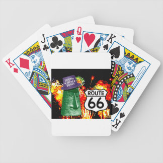 Happy New Year from Route 66 Giganticus Headicus Bicycle Playing Cards