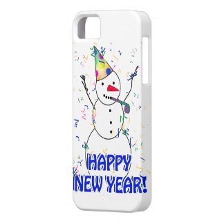 Happy New Year from the Celebrating Snowman iPhone SE/5/5s Case