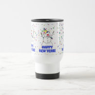 Happy New Year from the Celebrating Snowman Mugs
