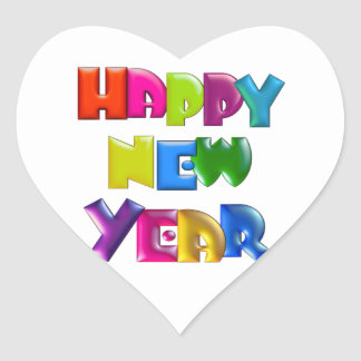 HAPPY NEW YEAR fun 3D-like Greeting Cards Sticker